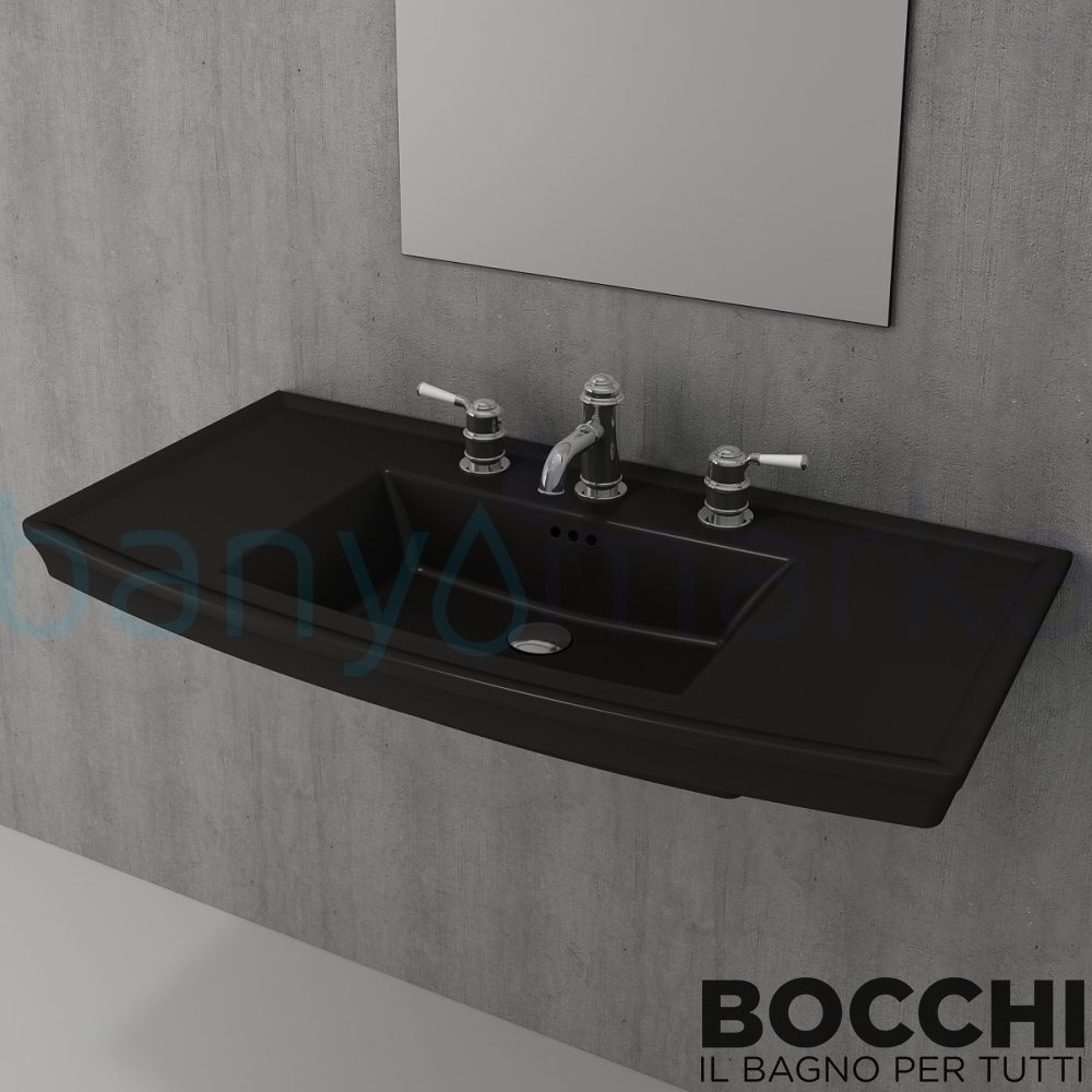 bocchi lavita lavabo 100 cm 1168 004 0126 online sat banyomarka. Black Bedroom Furniture Sets. Home Design Ideas