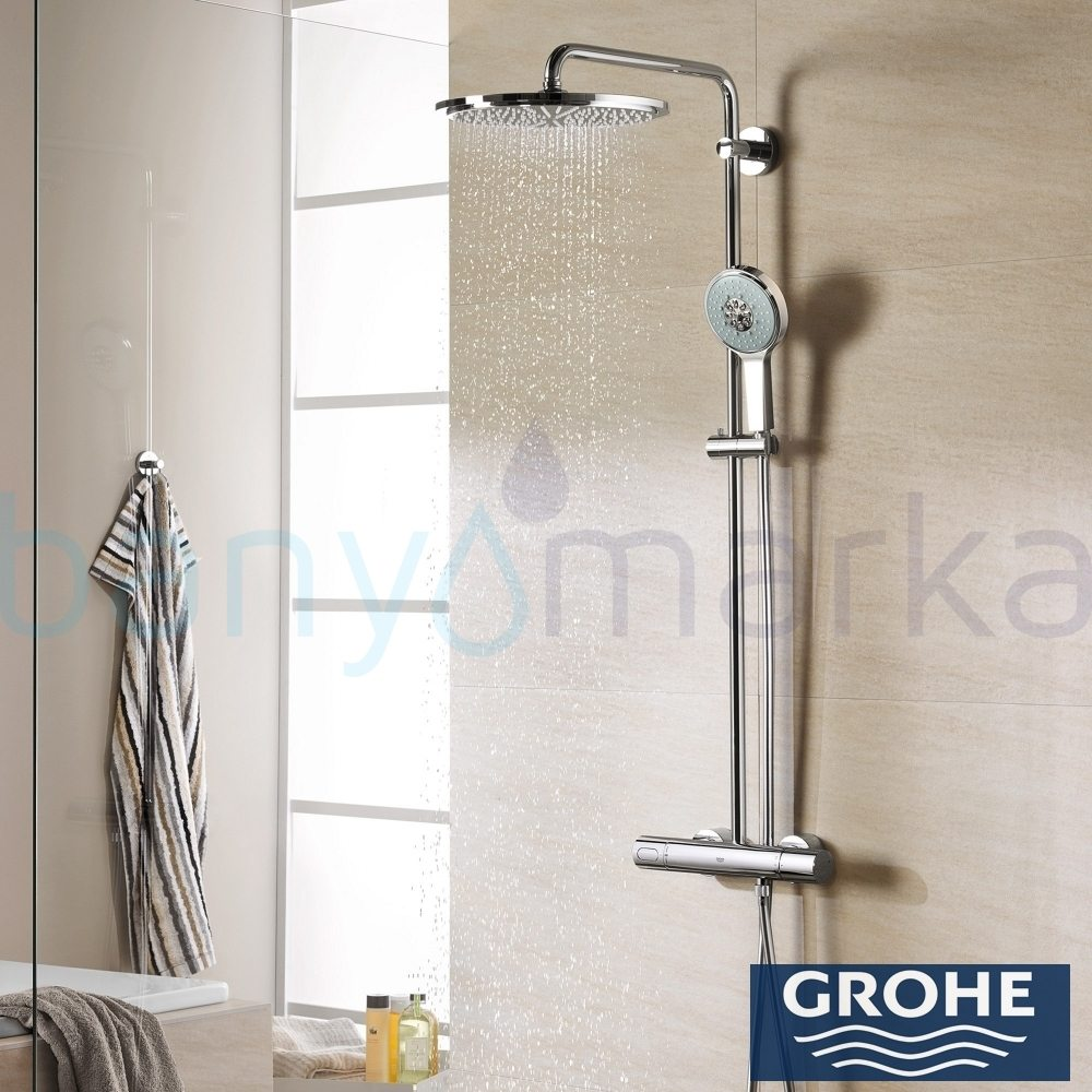 grohe rainshower system 310 duvara monte termostatik du. Black Bedroom Furniture Sets. Home Design Ideas