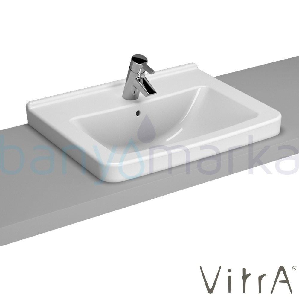 vitra s50 tezgah st lavabo 60 cm beyaz 5310b003 0861. Black Bedroom Furniture Sets. Home Design Ideas