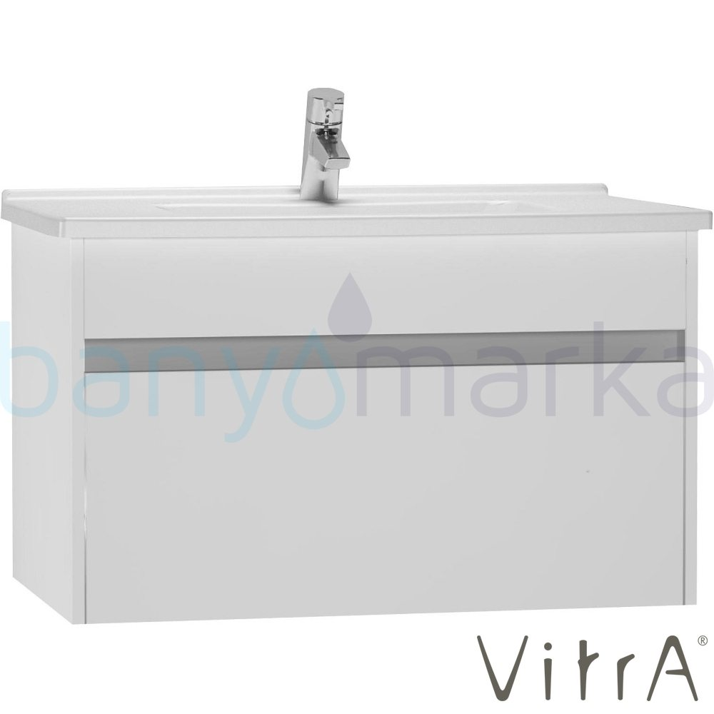 vitra s50 lavabo dolab 80 cm parlak beyaz lavabo dahil. Black Bedroom Furniture Sets. Home Design Ideas