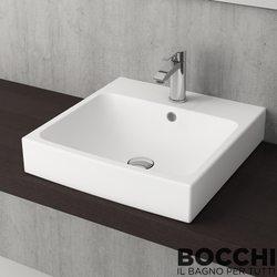 Bocchi - BOCCHI Scala Arch Tezgah Üstü Lavabo, 48 cm, Mat Beyaz