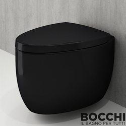 Bocchi - BOCCHI Etna Asma Klozet, Parlak Siyah
