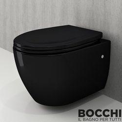 Bocchi - BOCCHI XL Asma Klozet, Parlak Siyah