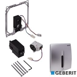 Geberit - Geberit HyBasic Fotoselli Pisuar Kapağı, Basic Elektrikli, Mat Krom