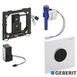 Geberit - Geberit Sigma10 Fotoselli Pisuar Yıkama Sistemi, Elektrikli, Siyah/Parlak Krom