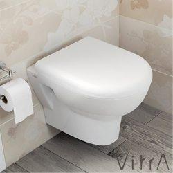 Vitra - Vitra Zentrum Rim-ex Kanalsız Asma Klozet, Kısa (Yavaş Kapanır Klozet Kapağı Dahil)