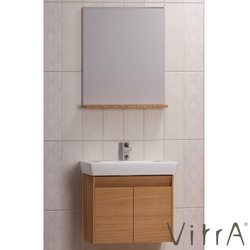 Vitra - Vitra Step Lavabo Dolabı Demonte Set, 65 cm, Teak (Ayna ve raf dahil)