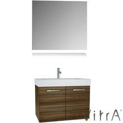 Vitra - Vitra Optima Demonte Banyo Dolabı Seti, 80 cm, Açık Ceviz (Çekmeceli Lavabo Dolabı, Ayna, Raf)