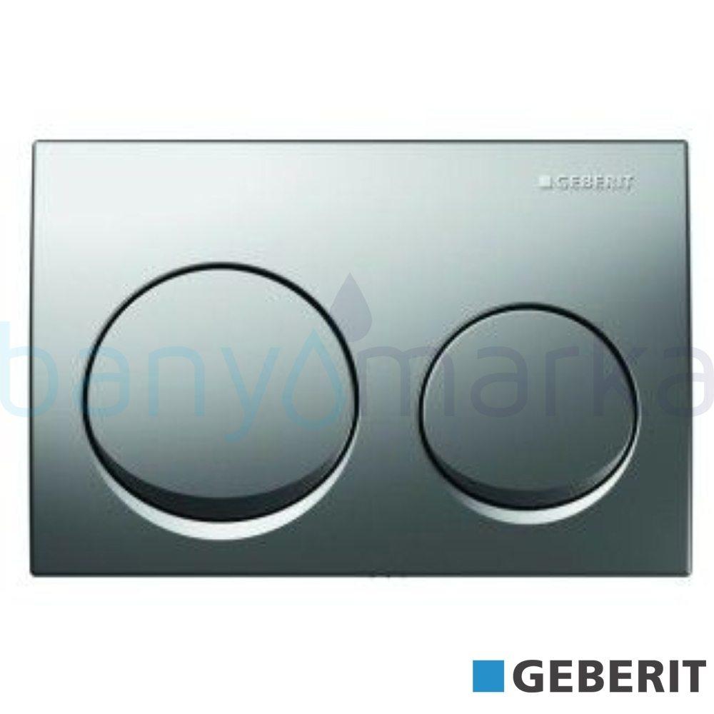 Geberit Alpha10 Kumanda Kapağı Çift Basmalı, Mat Krom