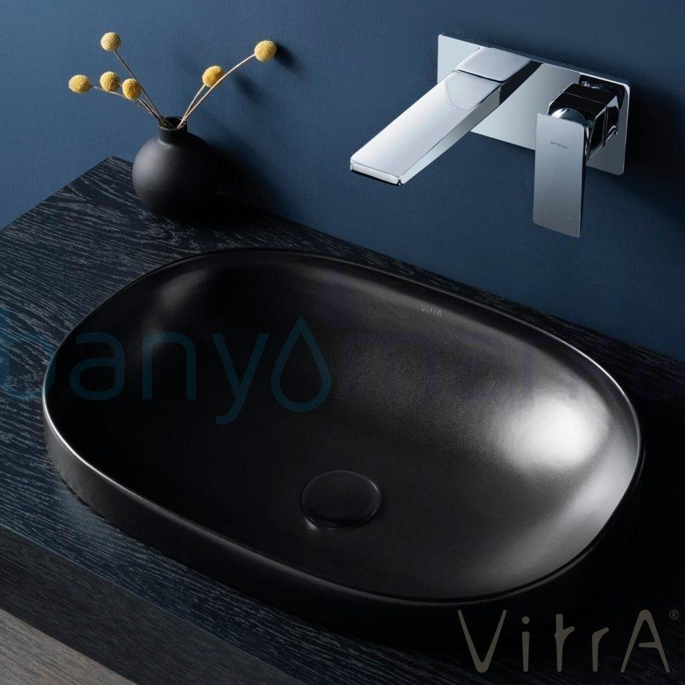 Vitra Frame Tezgah Üstü TV Lavabo, 58 cm, Mat Siyah