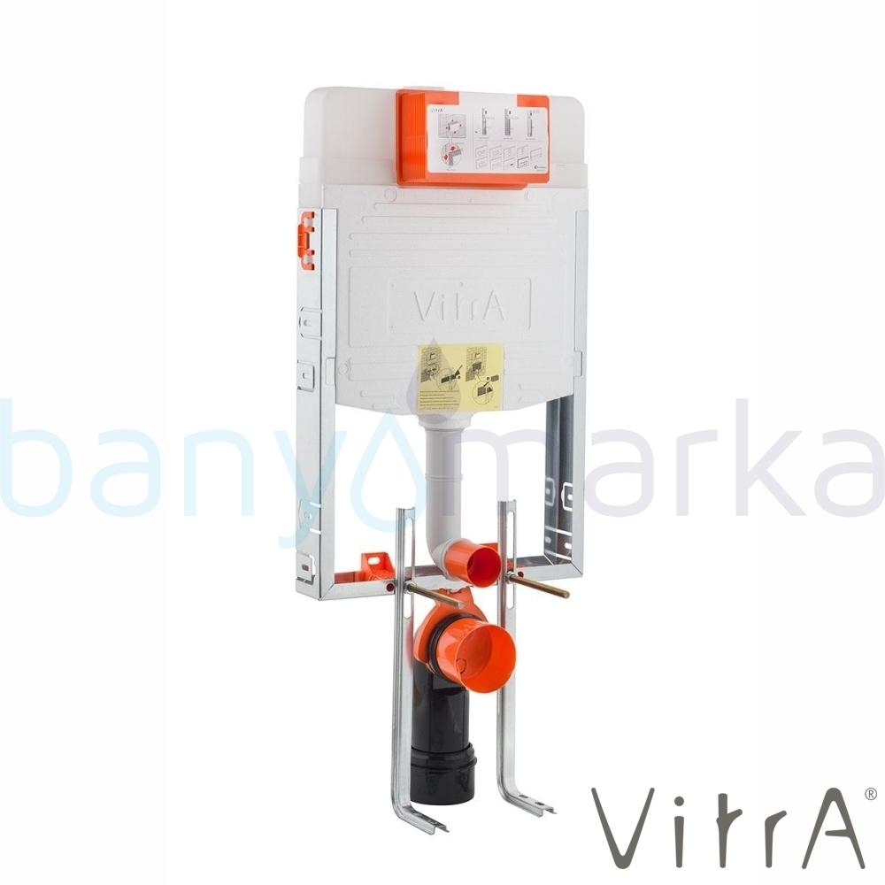 Vitra Gömme Rezervuar Metal Ayaklı Set, İnce, 3/6 Litre