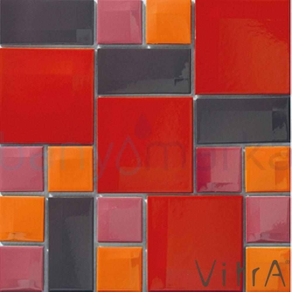 Vitra 30x30 Day To Day Kırmızı Mix Parlak