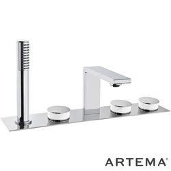 Artema - Artema Memoria Küvet Bataryası (5 Delikli), Krom - Beyaz