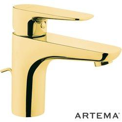 Artema - Artema X-Line Lavabo Bataryası, Altın (Sifon Kumandalı)