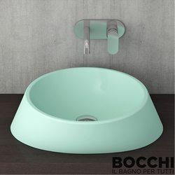 Bocchi - BOCCHI Capri Çanak Lavabo, 44 cm, Mat Mint Yeşil