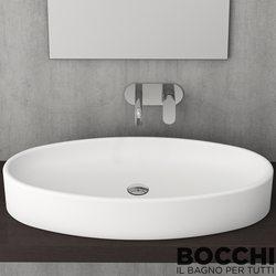 Bocchi - BOCCHI Cortina Çanak Lavabo, 85 cm, Mat Beyaz
