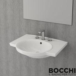 Bocchi - BOCCHI Vento Lavabo, 65 cm, Parlak Beyaz