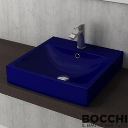 Bocchi - BOCCHI Scala Arch Tezgah Üstü Lavabo, 48 cm, Safir Mavi