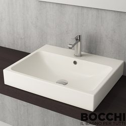 Bocchi - BOCCHI Scala Arch Tezgah Üstü Lavabo, 60 cm, Bisküvi