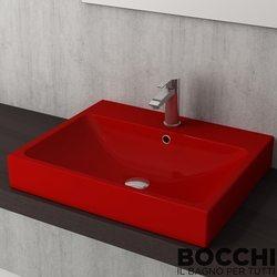 Bocchi - BOCCHI Scala Arch Tezgah Üstü Lavabo, 60 cm, Kırmızı