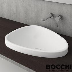 Bocchi - BOCCHI Etna Tezgah Üstü Lavabo, 58 cm, Mat Beyaz
