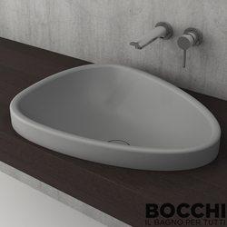 Bocchi - BOCCHI Etna Tezgah Üstü Lavabo, 58 cm, Gri