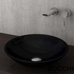 Bocchi - BOCCHI Lucca Çanak Lavabo, 40 cm, Parlak Siyah