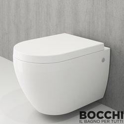 Bocchi - BOCCHI Speciale Jet Flush Yıkama Kanalsız Asma Klozet, Parlak Beyaz