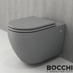 Bocchi - BOCCHI Speciale Jet Flush Yıkama Kanalsız Asma Klozet, Gri