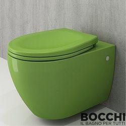 Bocchi - BOCCHI Speciale Jet Flush Yıkama Kanalsız Asma Klozet, Fıstık Yeşili