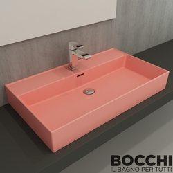 Bocchi - BOCCHI Milano Çanak Lavabo, 80 cm, Mat Somon