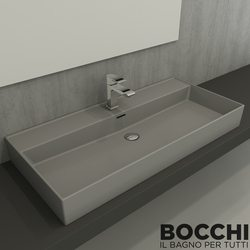 Bocchi - BOCCHI Milano Çanak Lavabo, 100 cm, Gri