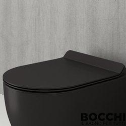 Bocchi - BOCCHI Pure Slim Klozet Kapağı, Mat Siyah