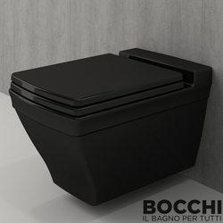 Bocchi - BOCCHI Lavita Klozet Kapağı, Parlak Siyah