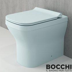 Bocchi - BOCCHI Tutti Slim Klozet Kapağı, Mat Buz Mavisi