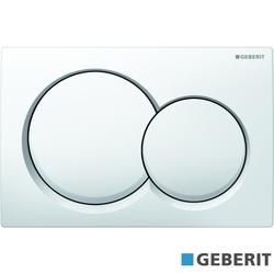 Geberit - Geberit Alpha01 Kumanda Kapağı Çift Basmalı, Beyaz