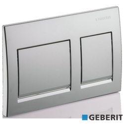Geberit - Geberit Alpha15 Kumanda Kapağı Çift Basmalı, Mat Krom