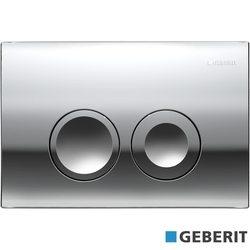 Geberit - Geberit Delta21 Kumanda Kapağı Çift Basmalı, Parlak Krom
