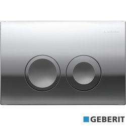 Geberit - Geberit Delta21 Kumanda Kapağı, Çift Basmalı, Mat Krom