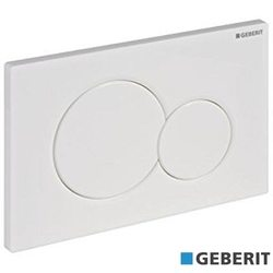 Geberit - Geberit Sigma01 Kumanda Kapağı, Çift Basmalı, Beyaz
