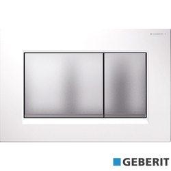 Geberit - Geberit Sigma30 Kumanda Kapağı, Çift Basmalı, Beyaz/Mat/Mat