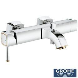 Grohe - Grohe Grandera Tek Kumandalı Banyo Bataryası, Krom-Altın