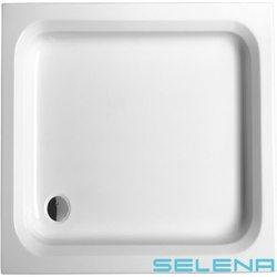 Selena - Selena 80x80 Kare Duş Teknesi, Ön Panel Dahil