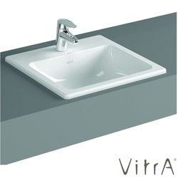 Vitra - Vitra S20 Tezgah Üstü Lavabo, Kare 50 cm