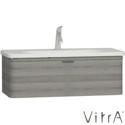 Vitra - Vitra Nest Trendy Tek Çekmeceli Lavabo Dolabı, 100 cm, Gri Dokulu Ahşap (Lavabo Dahil)