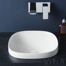 Vitra - Vitra Frame Tezgah Üstü Kare Lavabo, 42 cm, Mat Beyaz