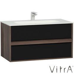 Vitra - Vitra Metropole Lavabo Dolabı, 2 Çekmeceli, Infinit lavabolu, 100 cm, Erik