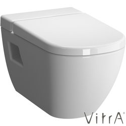 Vitra - Vitra D-Light Rim-Ex Kanalsız Asma Klozet, VitraFresh Deterjan Hazneli (Yavaş Kapanır Slim Klozet Kapağı Dahil)
