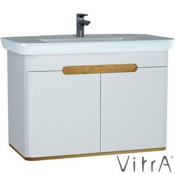 Vitra - Vitra Sento Kapaklı Lavabo Dolabı, Ayaksız, 100 Cm, Mat Beyaz