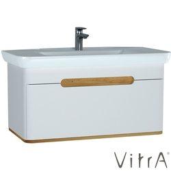 Vitra - Vitra Sento Tek Çekmeceli Lavabo Dolabı, Ayaksız, 100 Cm, Mat Beyaz